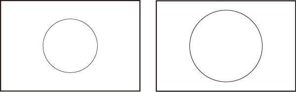日の丸構図の入り方