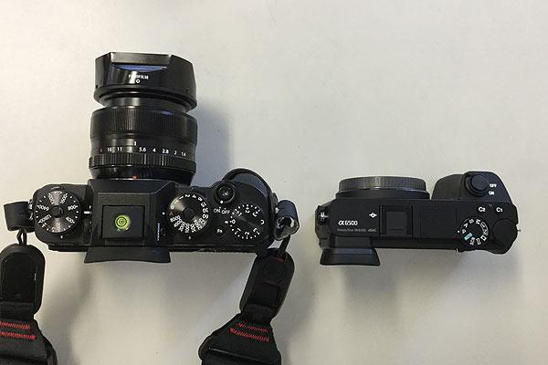 fujifilm x-t2とsony α6500比較