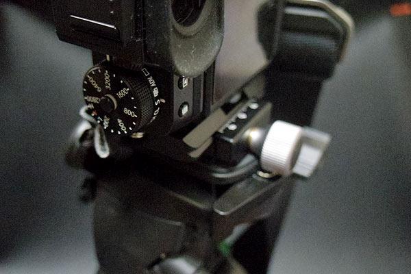 クイックリリースプレートがクランプのカメラセット