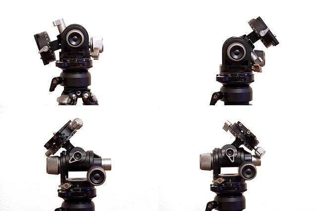 Leofoto G4の可動範囲
