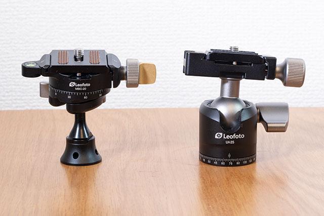 Leofoto 小型自由雲台 MBC-20と自由雲台 LH-25