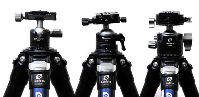 Leofotoの三脚と雲台の組み合わせとサイズ感の検証