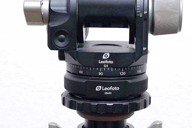 Leofoto クイック・リンクセット取り付け時の雲台とのサイズ感